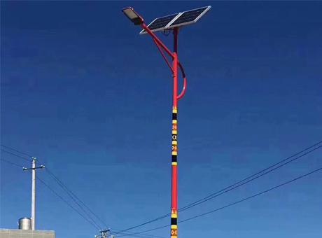 民族风太阳能路灯